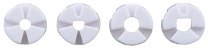 Roti Pololu  pentru axuri de 3mm si 4mm , 80 mm - Alb8