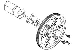 Roti Pololu  pentru axuri de 3mm si 4mm , 80 mm - Alb10