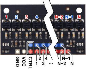 Pololu QTRX-HD-31RC bara 31 senzori digitali [2]