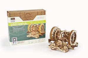 Puzzle mecanic 3D STEM Ugears Diferentialul15
