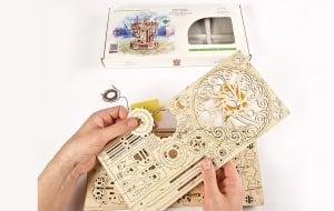 Puzzle mecanic 3D lemn Ugears Carusel16