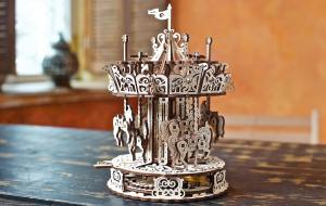 Puzzle mecanic 3D lemn Ugears Carusel8