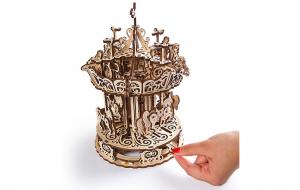 Puzzle mecanic 3D lemn Ugears Carusel5