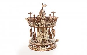 Puzzle mecanic 3D lemn Ugears Carusel2