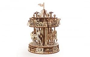 Puzzle mecanic 3D lemn Ugears Carusel3