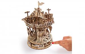 Puzzle mecanic 3D lemn Ugears Carusel4