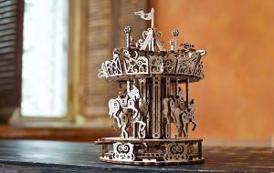 Puzzle mecanic 3D lemn Ugears Carusel7