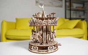 Puzzle mecanic 3D lemn Ugears Carusel11