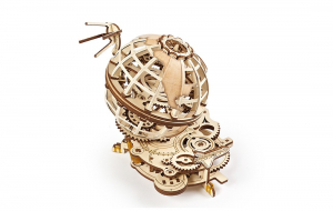 Puzzle mecanic 3D lemn Ugears Glob pamantesc2