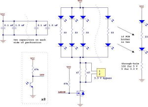 Bara senzori linie analogic QTR-8A1