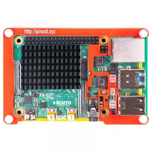 Radiator din aluminiu pentru Raspberry PI 4 - Negru - Pimoroni1