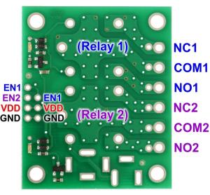 Placa  2 relee SPDT 5V1
