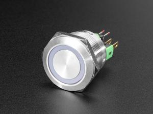 Buton RGB fara mentinere cu protectie la intemperii - 22mm 6V0