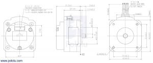 Sanyo Pancake Stepper Motor cu Encoder: Bipolar, 200 Steps/Rev,  42×31.5mm, 5.4V, 1 A/Faza, 4000 CPR4