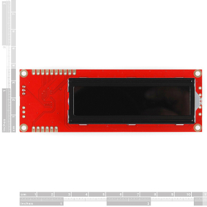 LCD 16x2 Serial - Alb pe negru 5V1