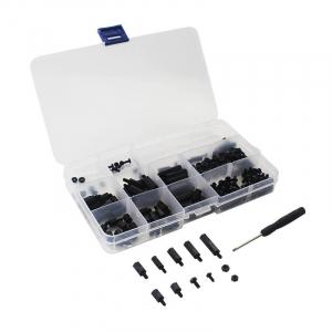 Set suruburi negre din nailon pentru Raspberry Pi0