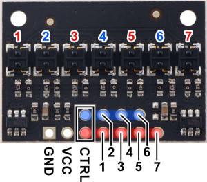 Bara senzorie linie 7 analogici QTRX-HD-07A [4]