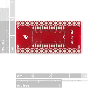 Circuit adaptor SOIC la DIP - 28 Pini1