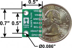 Senzor de distanta VL53L0X  200cm Max3