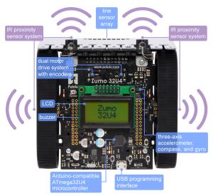 Zumo 32U4 Robot Kit (Fara Motoare)3