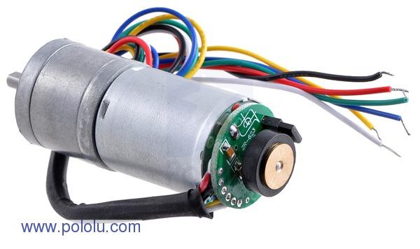 Retras Motor metalic cu cutie de viteze 25Dx52L mm 34:1 HP cu encoder 4