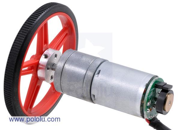 Retras Motor metalic cu cutie de viteze 25Dx52L mm 34:1 HP cu encoder 3