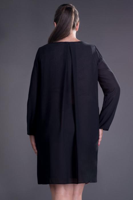 Blazere elegante din voal - Blazer dama lung din voal Inna negru 2