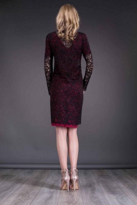 Blazer dama elegant din dantela neagra - Blazere elegante lungi 2