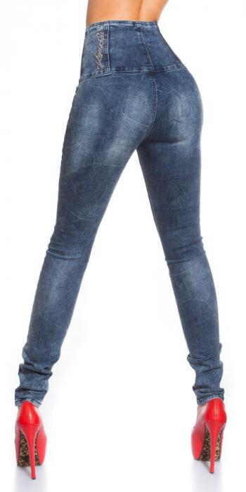 Blugi skinny cu talie inalta blue jeans Germania 1