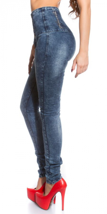 Blugi skinny cu talie inalta blue jeans Germania 2