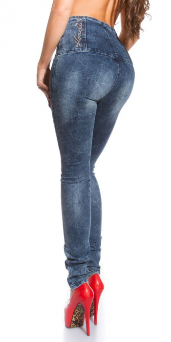 Blugi skinny cu talie inalta blue jeans Germania 3