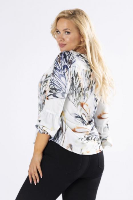 Bluza alba eleganta cu imprimeu - Bluze marimi mari Polonia [1]