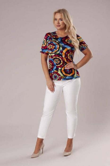 Bluza casual de dama cu imprimeu multicolor 1
