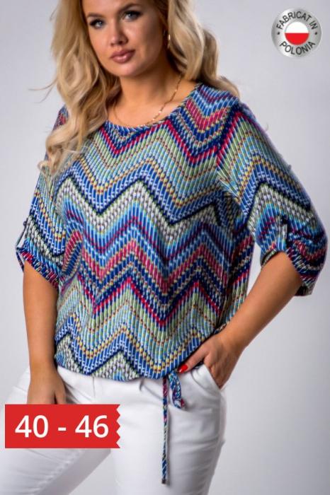 Bluza casual de dama cu imprimeu multicolor 0
