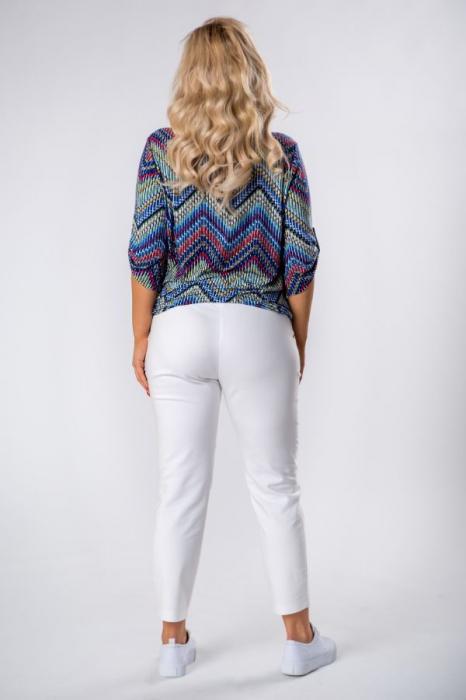 Bluza casual de dama cu imprimeu multicolor 3