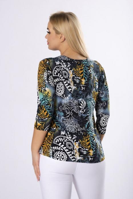 Bluza cu maneca lunga si imprimeu floral marimi mari [1]