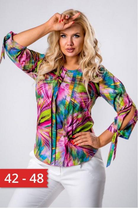 Bluza dama de vara cu imprimeu multicolor Polonia 0