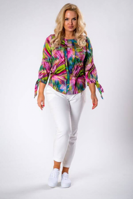 Bluza dama de vara cu imprimeu multicolor Polonia 1