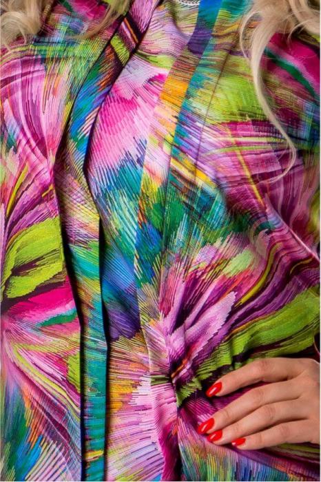 Bluza dama de vara cu imprimeu multicolor Polonia 2