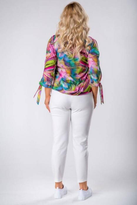 Bluza dama de vara cu imprimeu multicolor Polonia 3