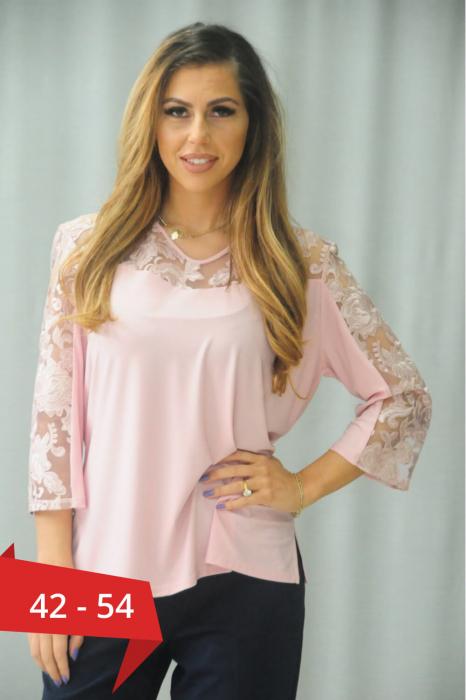 Bluze ieftine dama - Bluza dama eleganta cu broderie Karina 0