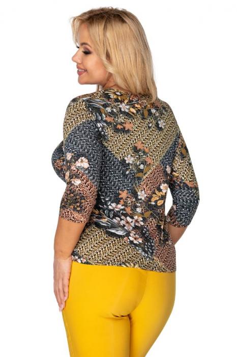Bluza casual cu imprimeu pentru femei plinute 1