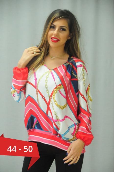 Bluze dama marimi mari - Bluza de dama cu maneca lunga Karina 0