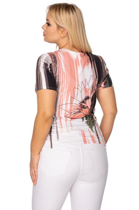 Bluza de vara cu maneca scurta alb/roz [1]