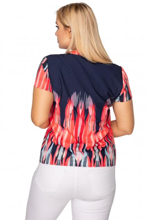 Bluza de vara cu maneca scurta bleumarin 1