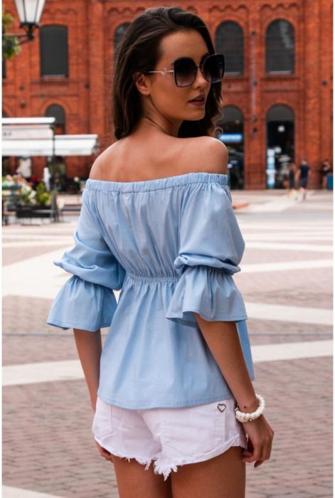 Bluza de vara cu maneci 3/4 bleu jeans [1]