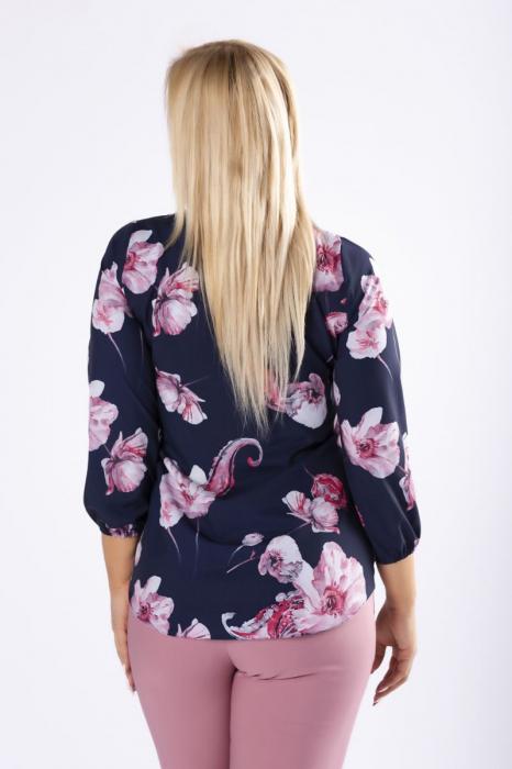 Bluza eleganta cu maneca lunga si imprimeu floral [2]