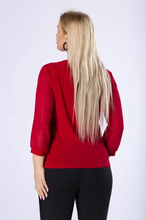 Bluza eleganta dama cu volane - Bluze elegante dama marimi mari [1]