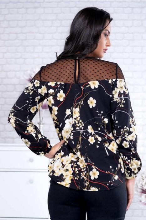 Bluze dama elegante - Bluza neagra dama marimi mari Fabiana 1