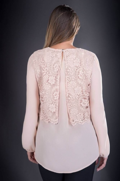 Bluze elegante marimi mari - Bluza de dama din dantelaOfelia crem 1